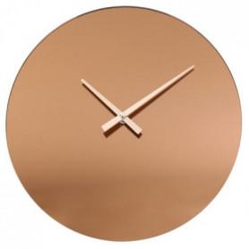 THE HOME DECO FACTORY Horloge Murale Miroir Fume Cuivre M6