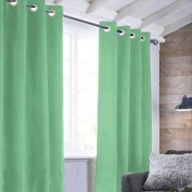 Rideau sueden 100% Polyester - Vert clair - 140x250 cm