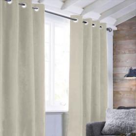 Rideau sueden 100% Polyester - Beige clair - 140x250 cm