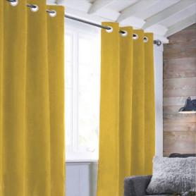 Rideau sueden 100% Polyester - Jaune - 140x250 cm