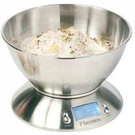 BESTRON DEK4150 Balance de cuisine avec bol - Inox