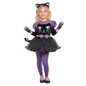 AMSCAN Miss Meow - Costume Fille - Robe et diademe, mitaine et collants