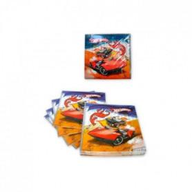 ATOSA Pack de 15 serviettes - Imprimé Hot Wheels - Garçon