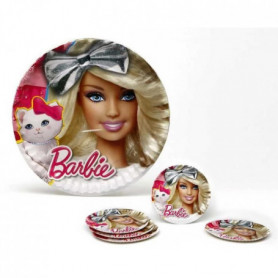 ATOSA Pack de 5 assiettes en carton - Collection Barbie - Fille 119116