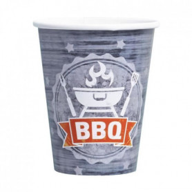 AMSCAN Lot de 8 gobelets BBQ Party 250 ml