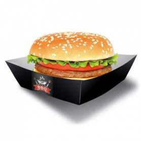 AMSCAN Lot de 4 Boîtes Burger BBQ Party 13 x 13 cm