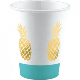 AMSCAN Lot de 8 Gobelets Ananas 250 ml