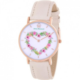 OLIVIA WESTWOOD BOW10012-814 Montre Quartz Bracelet cuir - Rose
