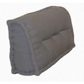 Dossier Cale-Reins 100% coton 60x22/11xH45 cm GRIS FONCE