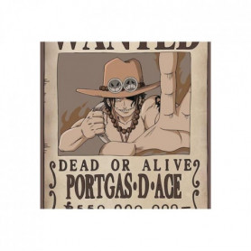 Poster One Piece - Wanted Ace roulé filmé (91.5x61) - ABYstyle