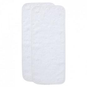 BABYCALIN Lot 2 serviettes pour matelas a langer blanc