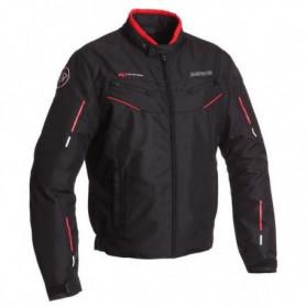 BERING Blouson Moto Corsaire Noir et Rouge