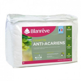 BLANREVE Couette chaude Percale - Anti-acariens - 350g/m² - 200x200