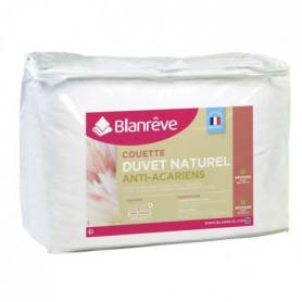 BLANREVE Couette Naturelle Duvet Percale de Coton - 240x260