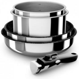 BACKEN Set de batteries de cuisine - Inox - 5 pieces