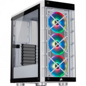CORSAIR Boîtier connecté iCUE 465X - ATX Moyen-Tour - RGB Blanc