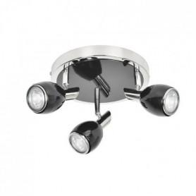 FIFTIES Spot 3 lumieres LED - H 27 cm - Noir
