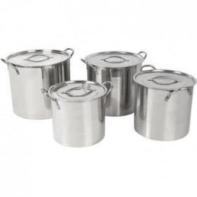 CREALYS 500194 set de 4 traiteurs aluminium 8/11/15/18.5l