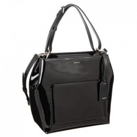 DKNY Sac en cuir de brevet R361170304 PATENT LEATHER Noir Femme