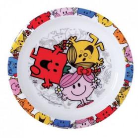 Fun House monsieur madame assiette micro-ondable pour enfant
