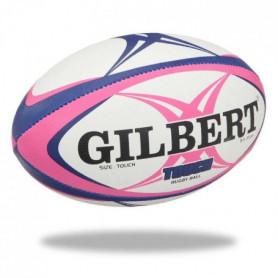 GILBERT Ballon de rugby Touch - Taille 4 - Homme - Rose et bleu
