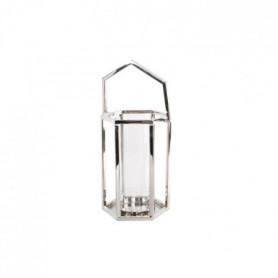 Bougeoir lanterne déco pretty - Inox - 20x18x26cm