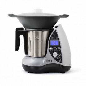 LIVOO DOP142G Robot culinaire chauffant - Gris et métal