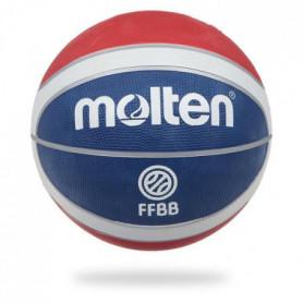 MOLTEN Ballon de Basket Replica FFBB - Bleu, Blanc et Rouge