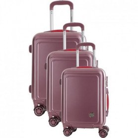 COCONUT Set de 3 Valises 8 Roues S/M/L Rose