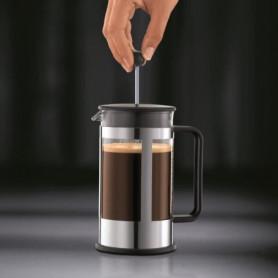 BODUM KENYA Cafetiere a piston acier chromé 8 tasses