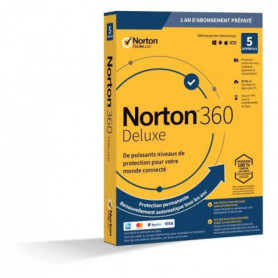 NORTON 360 Deluxe 50 Go FR 1 Utilisateur 5 Appareils - 12 Mo STD