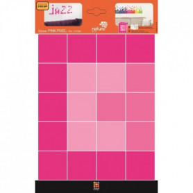 PLAGE Stickers adhésif mural Taille S - Pink pixel/2 planches