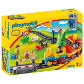 PLAYMOBIL 1 2 3 - 70179 - Train avec passagers et circuit