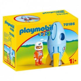 PLAYMOBIL 1 2 3 - 70186 - Fusée et astronaute