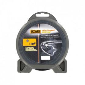 JARDIN PRATIC Fil nylon hélicoidal premium line OZAKI pour tondeuse