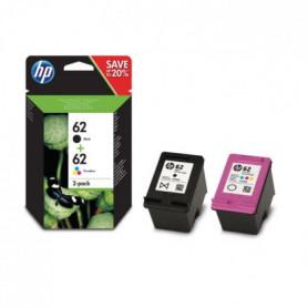 HP 62 Pack de 2 cartouches d'encre Noire et Trois