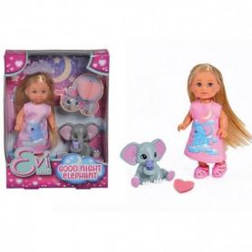 EVI LOVE Elephant - Mini poupée mannequin 12cm avec un éléphanteau