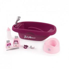 SMOBY Baby Nurse Set Baignoire Poupon - 8 Accessoires