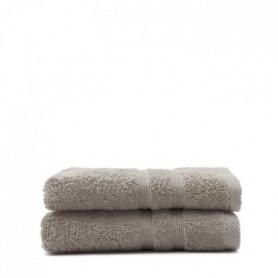 TODAY Lot de 2 Serviettes de toilette Mastic - 100% Coton - 50 x 100 cm