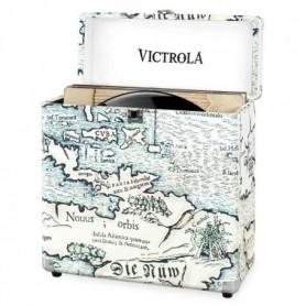 VICTROLA Caisse Rétro - Map Monde
