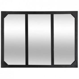 Miroir en métal - 54 x 74 cm - Noir