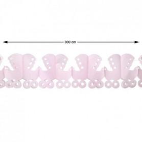 ATOSA Guirlande en papier - Rose - 300 cm