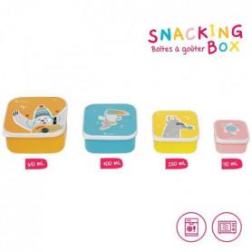 BADABULLE Snacking Box - 4 Boites a Goûter Gigognes