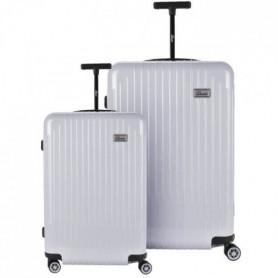 BARTOLI Ensemble de 2 valises 55/75cm Argent