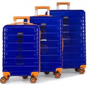 DANIEL HECHTER Set de 3 Valises Trolley Rigide Bleu