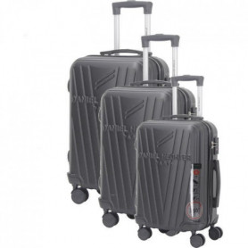 DANIEL HECHTER Set de 3 Valises Trolley Rigide ABS Noir