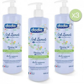 DODIE Gel lavant 3en1 - flacon pompe 500ml LOT DE 3