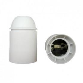 Douille E27 thermoplastique lisse blanc