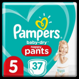 Pampers Baby-Dry Pants Couches-Culottes Taille5, 37Culottes