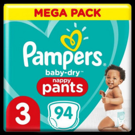 Pampers Baby-Dry Pants Couches-Culottes Taille3, 94Culottes
